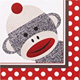 Sock Monkey Red Lunch Napkins (20)