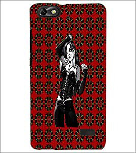 PrintDhaba Beautiful girl D-4063 Back Case Cover for HUAWEI HONOR 4C (Multi-Coloured)