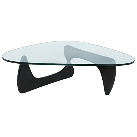 LeisureMod Imperial Triangle Coffee Table, Black