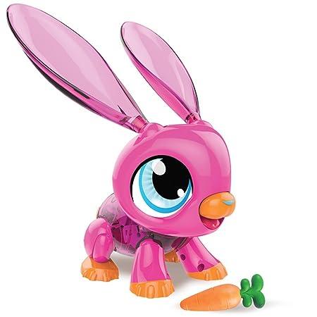 Gear2play Robot lapin pour enfant fille garçon Build a Bot Rose TR50110