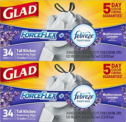 glad-forceflex-odorshield-tall-kitchen-drawstring-trash-bags-lavender-13-gallon-68-count-total-by-gl
