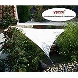 YACCU® SONNENSEGEL SONNENSCHUTZ 6 x 6 x 6 m Dreieck CREME