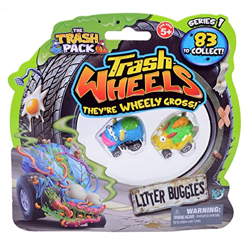 Trash Pack Wheels Litter Buggies Blister (2-Pack)