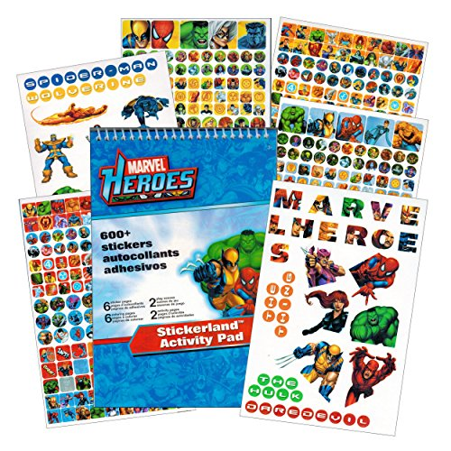 Marvel Heroes Reward Stickers - 375 Stickers - Spider-man, Iron Man, Thor, Hulk, Captain America and more! - 1