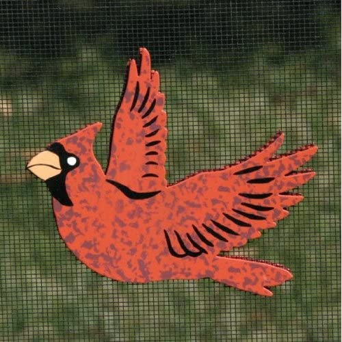 Red Cardinal Refrigerator Bird Magnets Or Patio Door