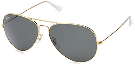 ray ban golden glass  ray ban aviator sunglasses (golden) (rb3026 w202762)