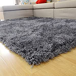 Ustide thick grey carpet for home and living for Durable carpet for family room