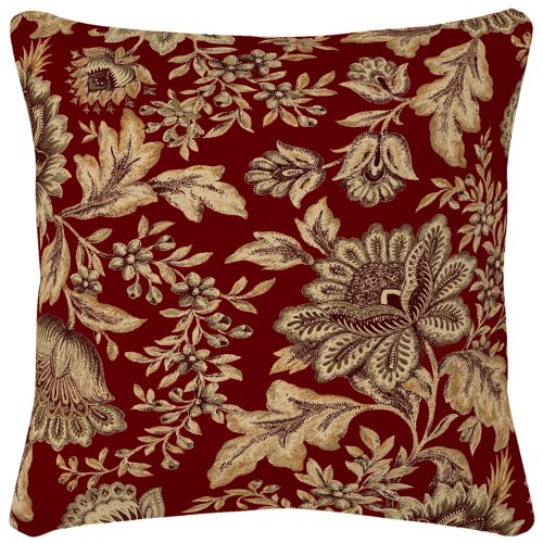 arden-companies-strathwood-spun-polyester-pillow-16-by-16-inch-melinda-coral-set-of-2