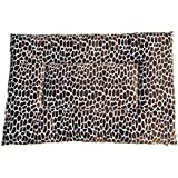 GoodDogBeds Cuddle Fabric Rectangle Crate Pad, Size 100, Blue Giraffe