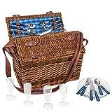 Weiden-Picknick Korb 'Summertime' für 4...