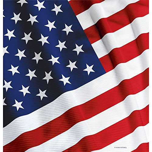 Creative Converting Plastic Table Cover, 54 by 108-Inch, American Valor - 1