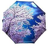 KOUME-YA 桜満開 花吹雪 折り畳み傘 晴雨兼用 UV防止