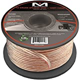 Mediabridge 16AWG Speaker Wire (100 Feet) - Spooled Design with Sequential Foot Markings