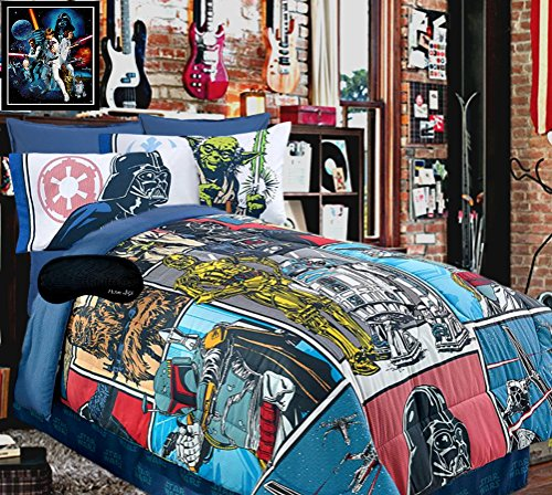 New! Star Wars Classic QUEEN FULL Comforter + Home Style Brand Sleep Mask 2 Pc Bedding Set (Star Wars Quilt Queen compare prices)