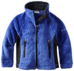 Columbia Little Girls\'  Pearl Plush Full Zip Jacket, Light Grape/Black, 6/6X