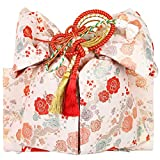 (キョウエツ) KYOETSU 日本製 七五三 7歳 女の子 御祝い帯 結び帯 (白系)