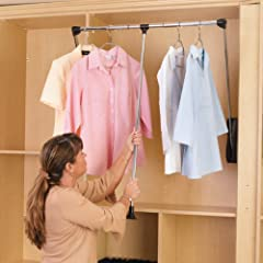 Rev-A-Shelf RCPDR-3548 Pull-Down Closet Rod - 35- 48 in.