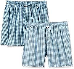 Jockey Men's Cotton Shorts (Pack of 2)  (8901326026335_1222-0210-ASSTD Assorted Checks XXL)