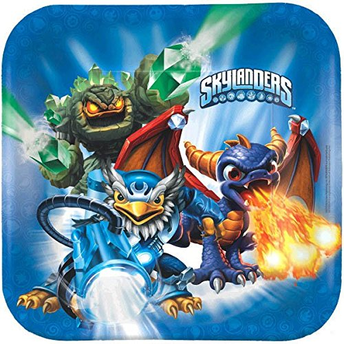 "American Greetings Skylanders 9"" Square Plate (8-Count) - 1"