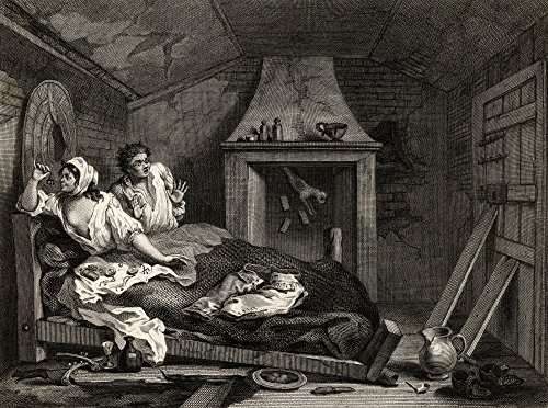 Industry And Idleness The Idle Prentice Returned From Sea And In A Garret With A Prostitute From The Original Design By Hogarth From The Works Of Hogarth Published London 1833 Poster Print (32 x 24) (Garret Pic compare prices)