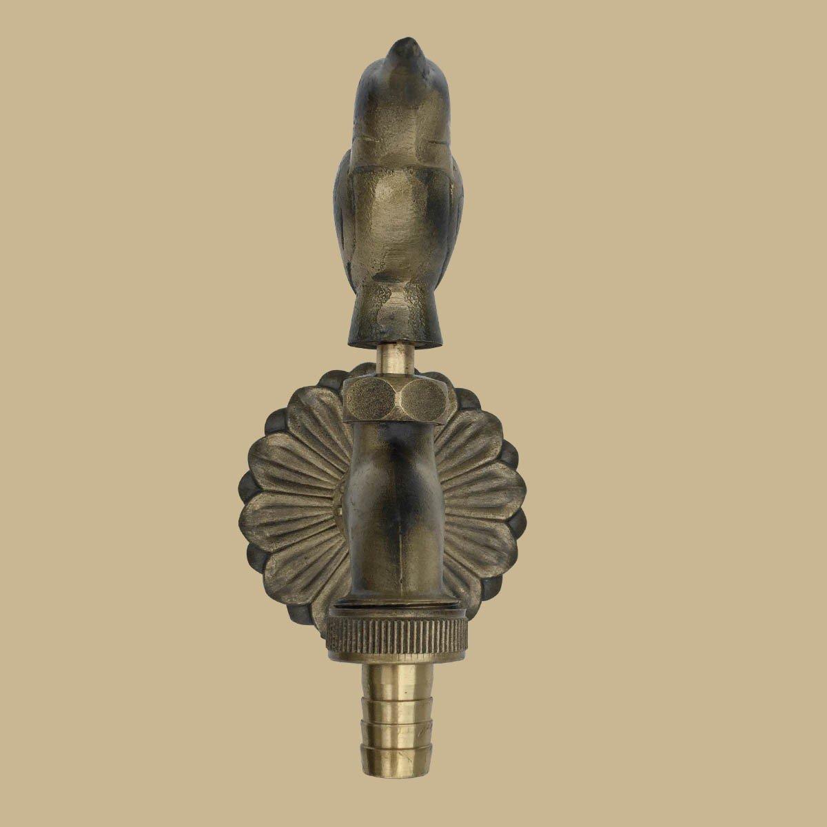 Outdoor Faucet Bird Spigot Garden Tap Antique Brass   Renovators Supply 6
