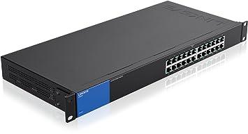 Linksys LGS124-EU Commutateur Gigabit non administrable à 24 ports pour professionnels