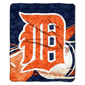 MLB Detroit Tigers Big Stick Sherpa Throw Blanket, 50x60-Inch by Northwest
