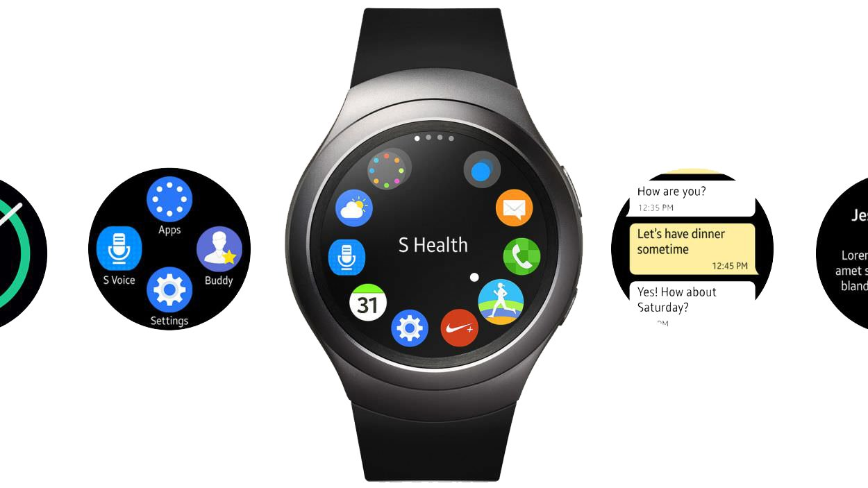 Samsung Gear S2 Smartwatch International Version R720 Stainless Steel 42mm Dark Gray