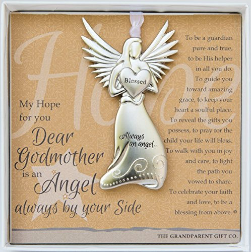 Godmother Gift - Always an Angel By Your Side Charm Ornament - 1