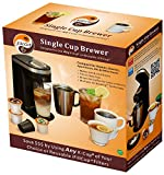 IFill-Cup-Single-Serve-Compact-K-cup-Brewer-Ifill300-Black-Includes-Free-6-Units-of-Ifill-Cup-Filter-Reusable-up-to-10-times