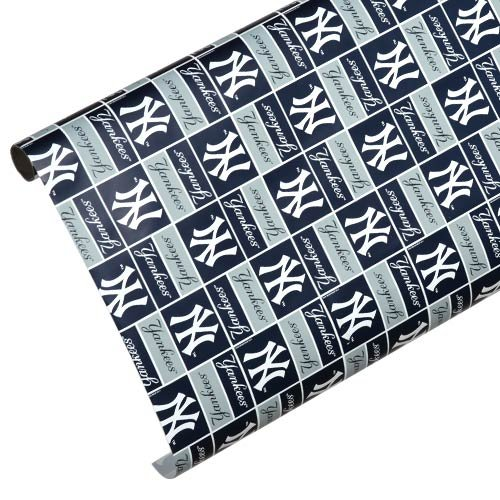 New York Yankees Spirit Block Wrapping Paper at Amazon.com
