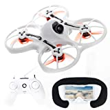 EMAX Tinyhawk RTF Micro Indoor Racing Drone with FPV Goggles and Controller for Beginners (Color: White)