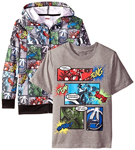 Marvel Boys' 2 Piece Hoodie Pack, Multi, 14-16 (Marvel Sweatshirt Kids compare prices)