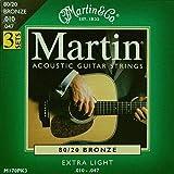 Martin M170PK3/3セットパック マーチン アコースティックギター弦