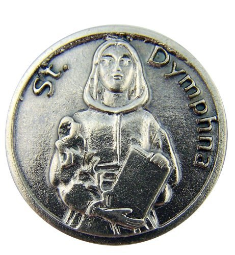 Religious Catholic Gift Saint St Dymphna Patron Mental Illness Pocket Token - 1
