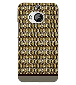 PrintDhaba Owl Pattern D-1680 Back Case Cover for HTC ONE M9 PLUS (Multi-Coloured)