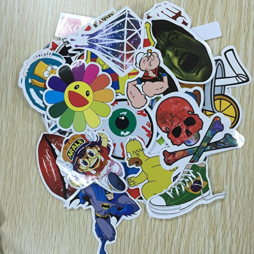 - (Pack of 50) Stickers Skateboard Snowboard Vintage Vinyl Sticker ...