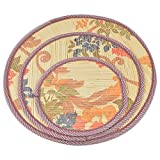 Table Coasters - Colorful Round Woven Wooden Strips