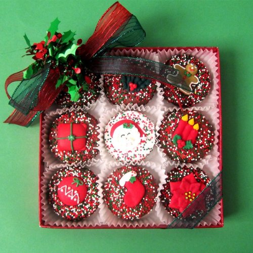 Christmas Chocolate Covered Oreos - 9 Piece