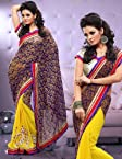 Sarees - Full Chiffon Dyed Sari Ecocity303