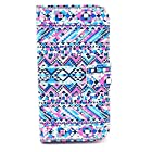 Mybase-magnet Design Colorful Painted Wallet Style Pu Leather Folio Case Cover for Lg G2