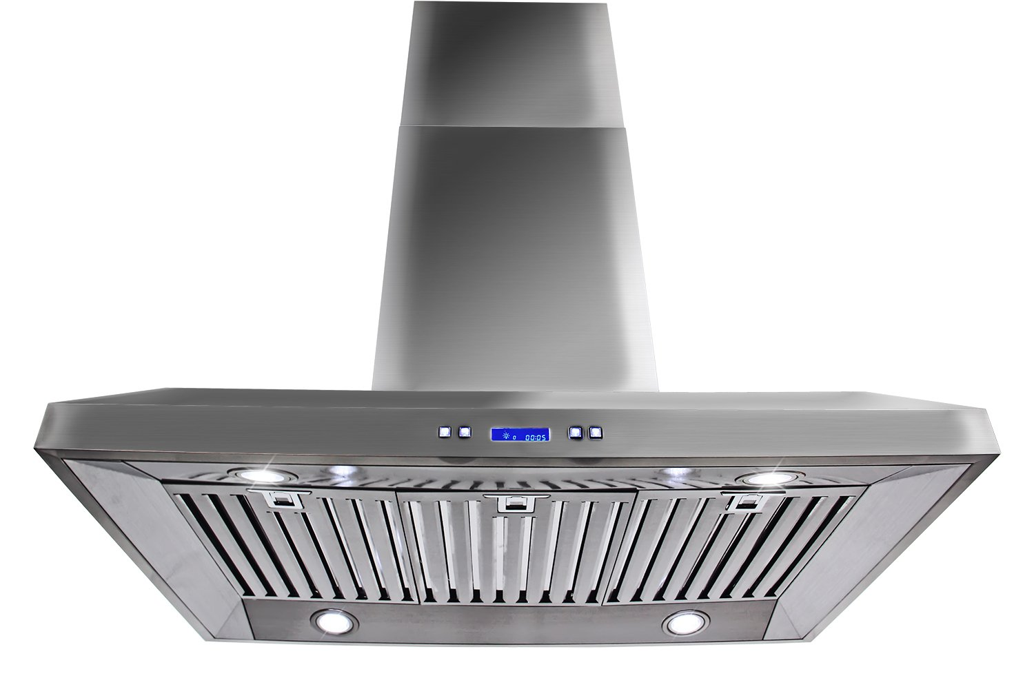 "Golden Vantage New 36"" European Style Island Mount Stainless Steel Range Hood Vent Push Control Button at Sears.com"