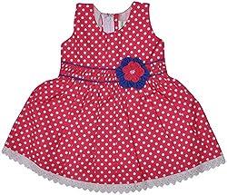Be BeBo Girl's Cotton Dress (910_2, Pink, 2 Year )