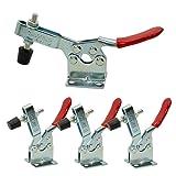 XRPAOWA 4 PCS Toggle Clamp 201B Hand Tool 198Lbs Holding Capacity Antislip Horizontal Quick Release Heavy Duty Toggle Clamp Tool