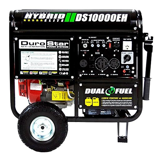 Generators DuroStar 10000 Watt Hybrid Dual Fuel Portable Gas Propane Generator - RV Standby (Whole House Solar Generator compare prices)