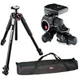 Manfrotto MT055XPRO3 Aluminium 3-Section Tripod kit with 410 Junior Geared Head - International Version (Calumet 1-Year Warranty) and a 35 inch Tripod Carrying Case