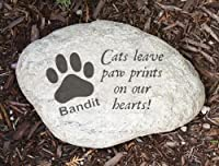 Engraved Cat Memorial Resin Stone Large