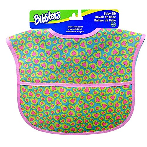 Bibsters Girl Leopard Easy Clean Bib