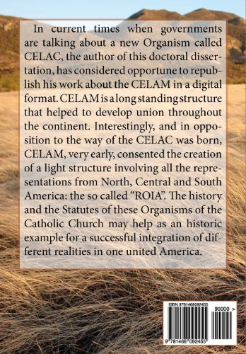 El CELAM, tesis doctoral: La estructura jurídica y sinodal del Consejo Episcopal Latinoamericano y de la
