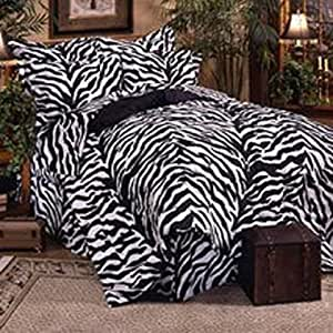 Black Zebra 8 Pc Queen Comforter Set One Matching Shower Curtain And Set Of Two